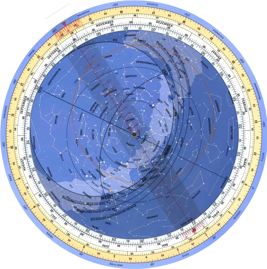 Rotating Star Map