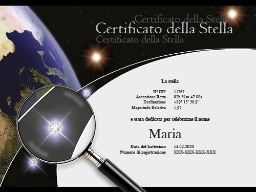 Certificato con cristalli Swarovski®